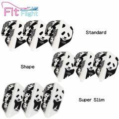 """Fit Flight(厚鏢翼)"" COSMO DARTS Printed Series Panda(熊貓) [Standard/Shape/Super Slim]"