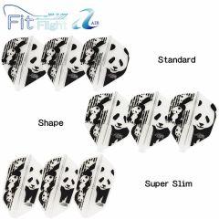 """""""Fit Flight AIR(薄鏢翼)"""" COSMO DARTS Printed Series Panda(熊貓) [Standard/Shape/Super Slim]"""