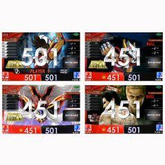 """""""限定"""" 聖鬥士星矢 & 人中之龍極2 動畫桌布DARTSLIVE2卡片"""