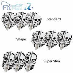 """Fit Flight AIR (薄鏢翼)"" COSMO DARTS Printed Series Skull 骷髏頭 [Standard/Shape/Super Slim]"
