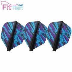 """Fit Flight (厚鏢翼)"" COSMO DARTS Design Contest Purple&Blue Pattern [Shape]"