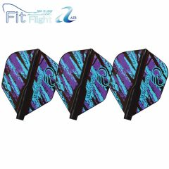 """Fit Flight Air (薄鏢翼)"" COSMO DARTS Design Contest Purple&Blue Pattern [Shape]"