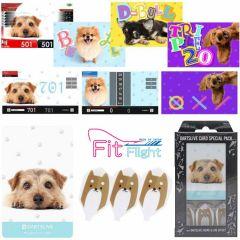 """DARTSLIVE"" Fit Flight Special Pack CARD 鏢翼+卡片+主題 <Dog(狗)>"
