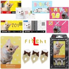 """DARTSLIVE"" L-Flight PRO Special Pack CARD  鏢翼 + 卡片 + 主題<Cat(貓)>"