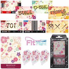 """DARTSLIVE"" Fit Flight Special Pack CARD  鏢翼+卡片+主題 <Sakura(櫻)>"